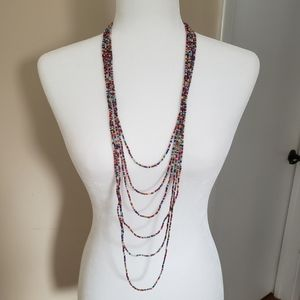 Urban Outfitters Rainbow Seed Bead Necklace